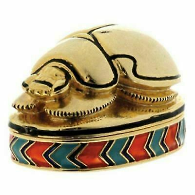 Scarab Jeweled Box - Collectible Egyptian Decoration Jewelry Container