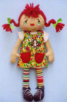 "*new* Cloth Folk Art Doll (Paper) Pattern ""pippy Ann And Her Long Stockings"""