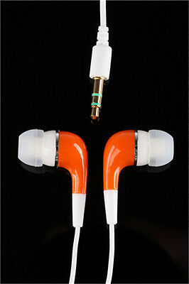 NEW 3.5mm In-Ear Earbud Earphone Headphone for Tablets PC Cell Phone MP3 Orange