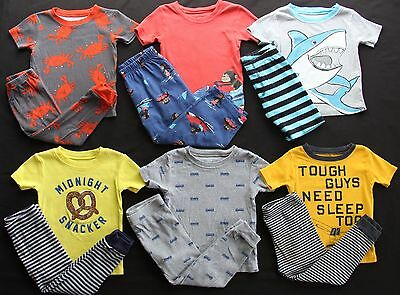 Boy 24 months 2T Carter's Summer Pajama Sets Clothes Lot Free Shipping