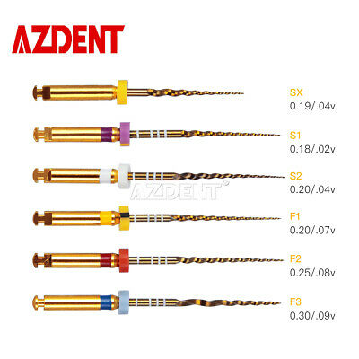 5 pack Dental Endodontic Engine Use NiTi Super Rotary File SX-F3 25mm AZDENT