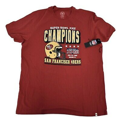 '47 Brand Mens NFL San Francisco 49ers Super Bowl XXIII Champs Shirt NWT S-2XL
