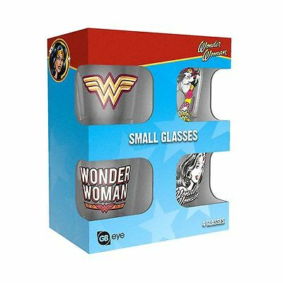 Officially Licensed DC Comics Wonder Woman Shot Glasses 4 Pack