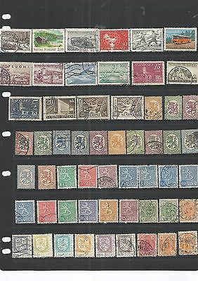 Finland 56 Used Stamps  Nice Lot , See Scan