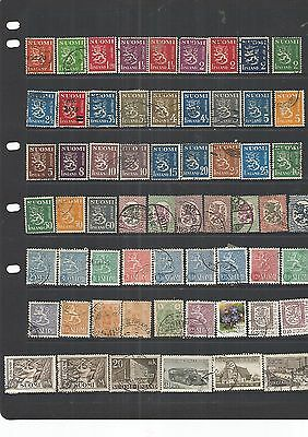 Finland 61 Used Stamps  Nice Lot , See Scan