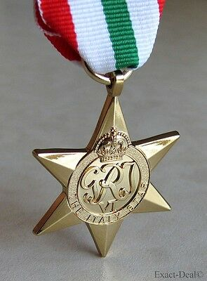 British & Commonwealth The Italy Star Campaign Medal WWII