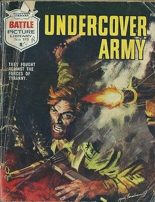 Undercover Army,battle Picture Library,no.212,war Comic,1965