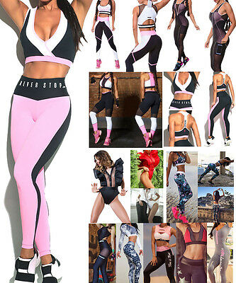 Women's Gym Fitness Top Leggings Running Sports Yoga Workout Wear Tracksuit Lot