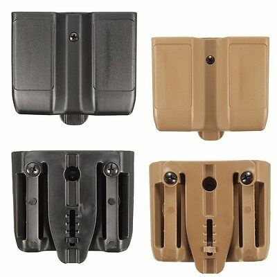Universal Fobus Duty Belt Double Pistol Magazine Pouch Mag Case Cartridge Clip