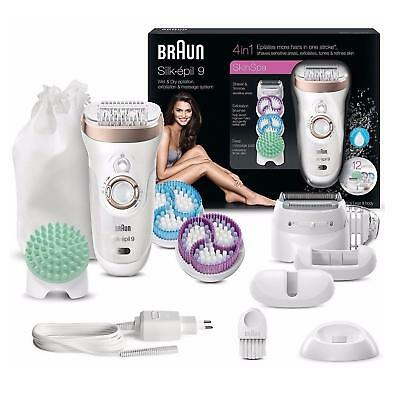 Braun Silk Epil 9 9-961v Wet & Dry Cordless Epilator, Exfoliation 12 Attachments