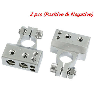 2 Pcs Car Truck Battery Terminal Clamp Clip Connector With Cover Universal Hot