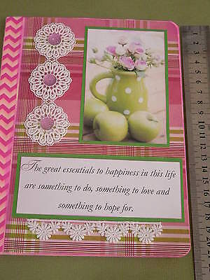 Notebook smashbook junk journal handmade for writing, drawing, blank pages no 9