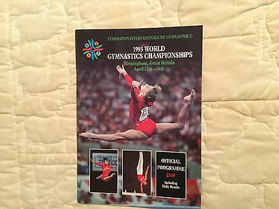 Official programme from the 1993 World Gymnastics Championships.
