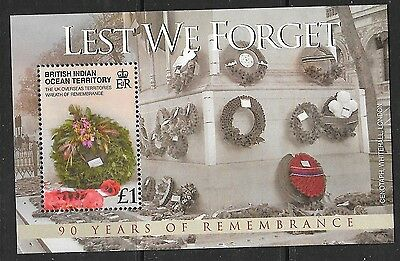 British Indian Ocean Terr Sgms391 2008 End Of The First World War Mnh