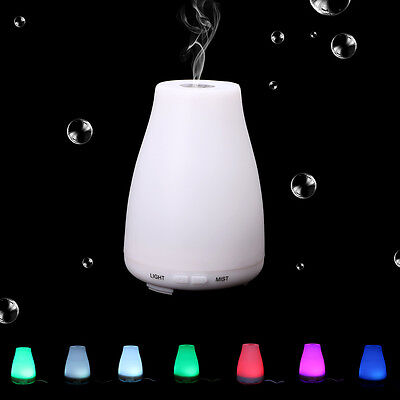 LED Essential Oil Diffuser Ultrasonic Humidifier Air Aromatherapy Atomizer 100ML