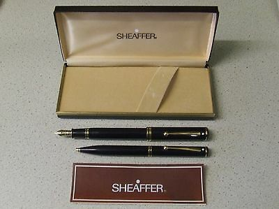 Vintage Boxed Sheaffer Connoisseur Fountain Pen and Ballpoint,18K 750 Medium Nib