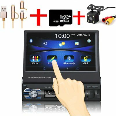 7 1din autoradio mit navi gps navigation touchscreen. Black Bedroom Furniture Sets. Home Design Ideas