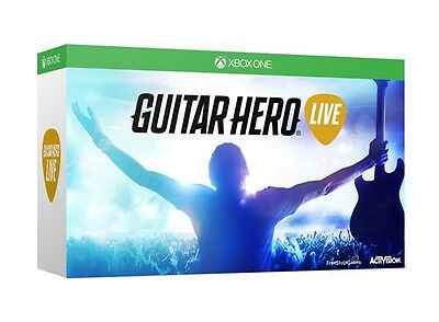 Xbox One Boxed GUITAR HERO LIVE Game and Guitar Controller Bundle