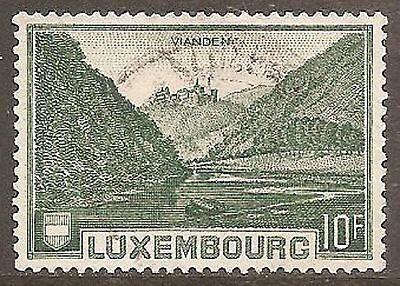 1935 Luxembourg 10f. View of Vianden SG 340 Used (Cat £25)