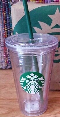STARBUCKS Grande 16 oz Reusable Cold Cup Tumbler NEW