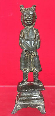 Antique Chinese 17th 18th c. Bronze Girl Stature Figurine