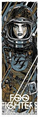 Foo Fighters Concert Poster Blue Limited Edition Screen Print By Rhys Cooper
