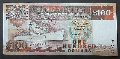Singapore $100 ship banknote, 1995, One Hundred Dollars, AUNC / EF condition
