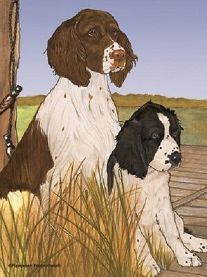 Large Indoor/Outdoor Pipsqueak Flag - English Springer Spaniel Pair 49921