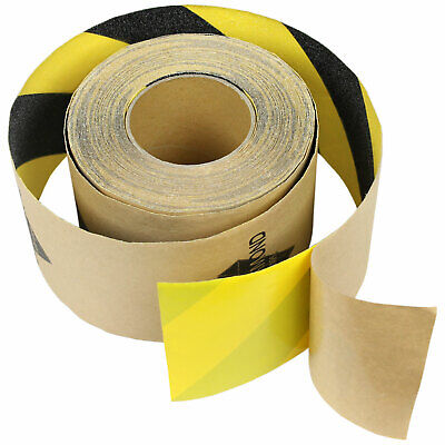 "5""x60' Black/Yellow SAFETY GRIPTAPE NonSkid Grit FOR STAIRS &MORE Anti Slip Grip"