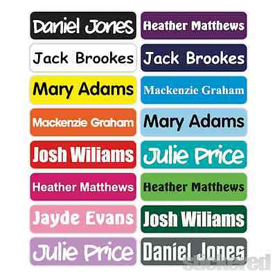25 x 46MM PERSONALISED STICK ON NAME LABELS WATERPROOF LUNCH BOX SCHOOL SHOES