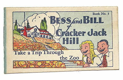 Cracker Jack Bess and Bill Cracker Jack Hill trip through zoo paper prize 1930s