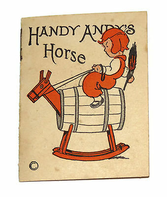Cracker Jack Prize Handy Andys Horse paper book RARE 1920s