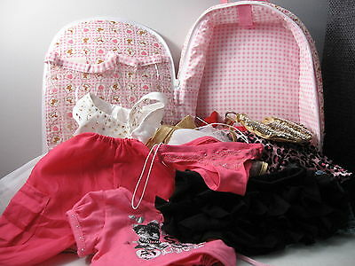 LOT of Build A BEAR BABW clothing accessories ESPECIALLY YOURS backpack pink