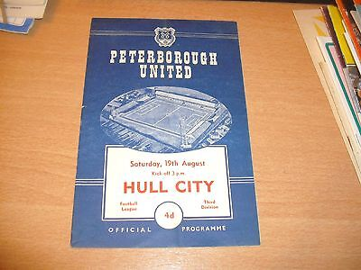 1961 - 1962 PETERBOROUGH v HULL CITY  # LEAGUE