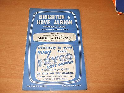 1960 - 1961 BRIGHTON v STOKE CITY  # LEAGUE
