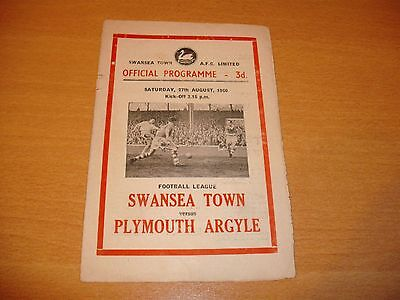 1960 - 1961 SWANSEA v PLYMOUTH LEAGUE