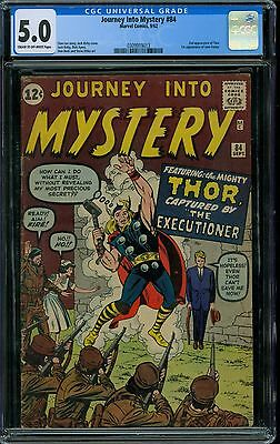 Journey Into Mystery 84 CGC 5.0 - 2nd Thor