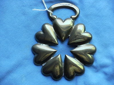 Horse Brass  Cast Seven  Hearts In Circle Registration Number R.e.thacker