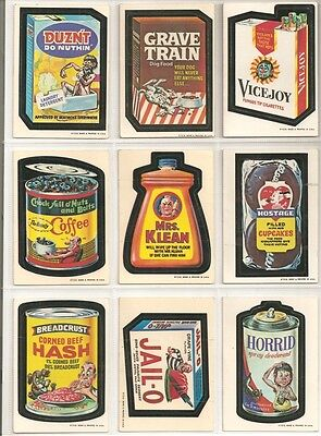 Vintage Lot of 9 Wacky Packages 1st Series Whiteback 1042 - 1973