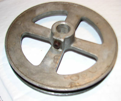 """Pulley Sheeve 5-1/4"""" diameter with 5/8"""" bore , set screw, for A belt"""