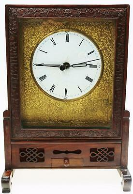 Antique Rosewood Chinese Double Fusee Verge Bracket Clock Spares Or Repair