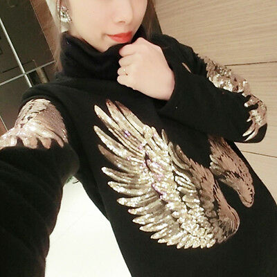 Beauty Gold Angel Wings Embroidered Applique Patch Iron-On DIY Decor Hat Coat