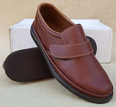 ELITE Mens Cumbar Brown Leather Slip On Bowls Bowlers Shoes UK 6 Ex Display (17)