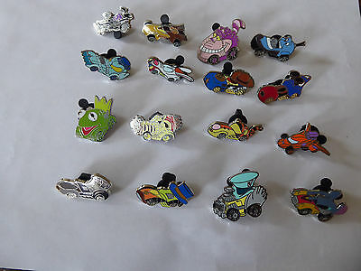 Disney Trading Pins Disney Racers Mystery Complete set of 16