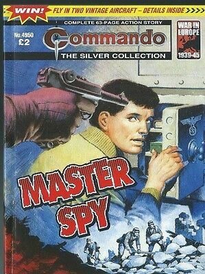 Master Spy,commando The Silver Collection,no.4950,war Comic,2016