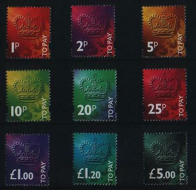 Gb 1994 Complete Set (9) Postage Due To Pay Label Stamps Sg D102 - D110 Um/mnh
