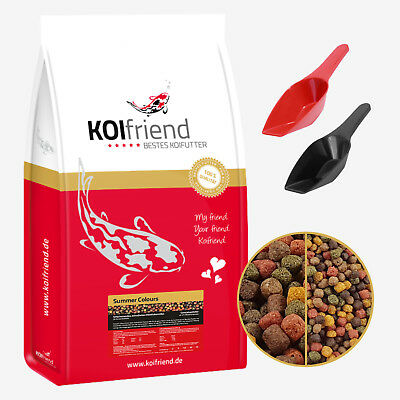 Koifutter Summer Colours 2 - 15 kg 3 & 6 mm Koi Mix Spirulina Fischfutter Fisch