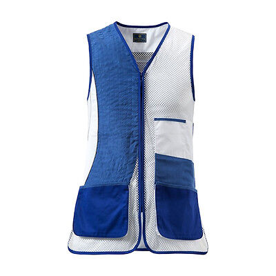Beretta GT64 No Olimpic Shooting Trap Vest in Blue & White