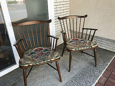 1 Antiker Armlehnstuhl Stuhl, Country Chair, Sessel, Windsor Stuhl vintage 2von1