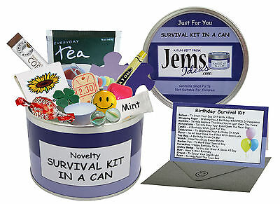 BIRTHDAY Survival Kit In A Can Fun Gift For Him Her Men